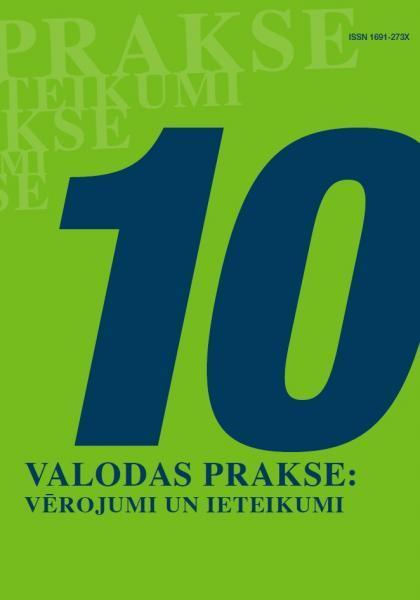 Valodas prakse: vērojumi un ieteikumi Nr. 10