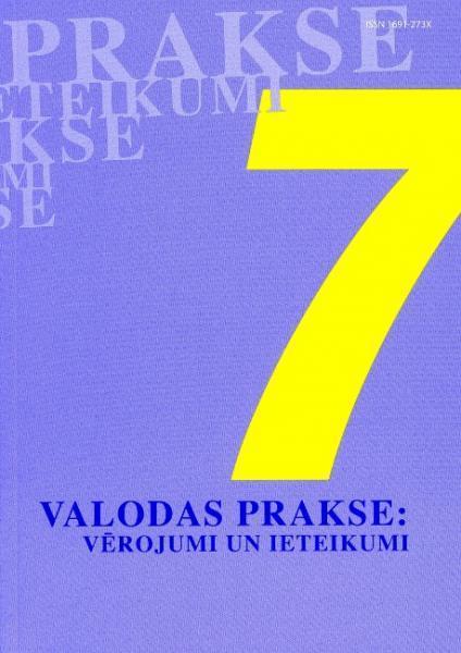 Valodas prakse: vērojumi un ieteikumi Nr.7