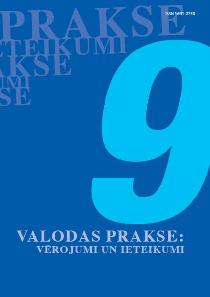 Valodas prakse: vērojumi un ieteikumi Nr.9